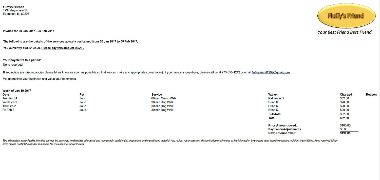 BetterWalker Invoice